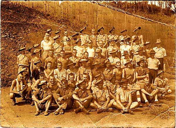 Australian soldiers at Ohamma POW Camp