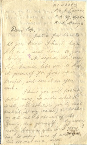 Letter dated January 10th 1942
