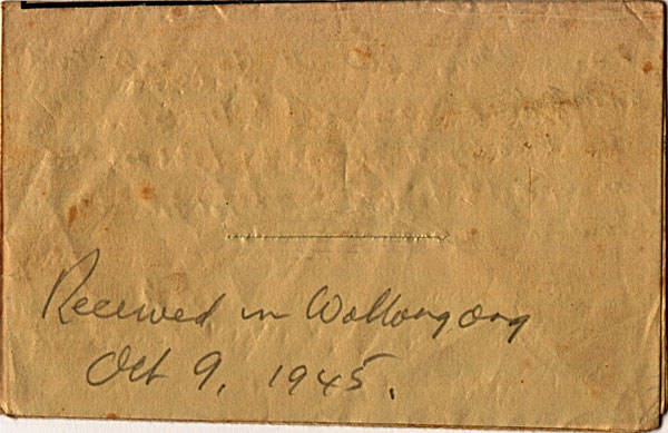 Letter dated October 2nd 1945