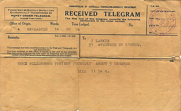Telegram dated 4th February 1943