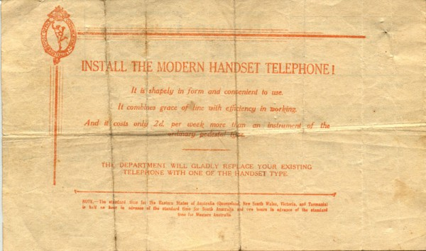 Reverse of telegram