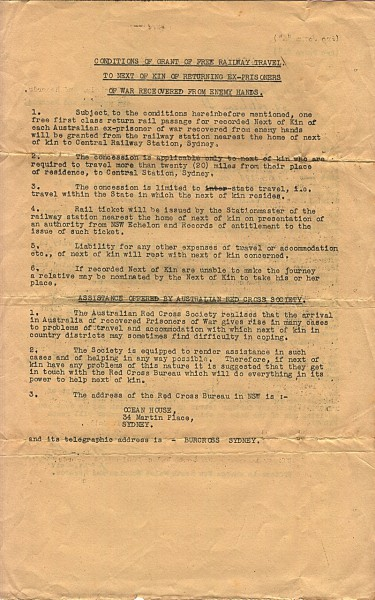 Australian Military Forces official correspondence dated October 10th 1945
