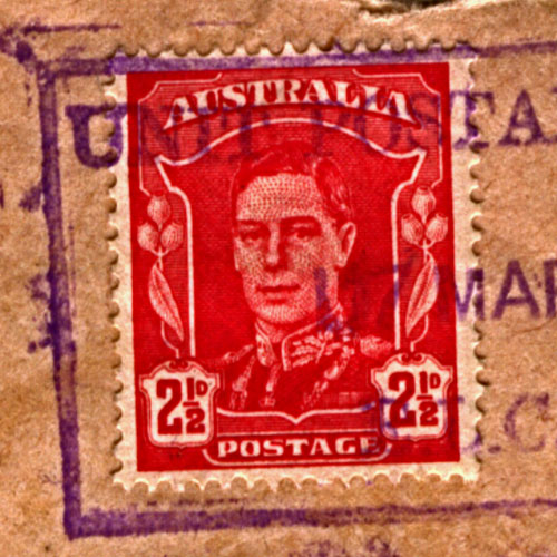 Australian Military Forces official correspondence postage stamp