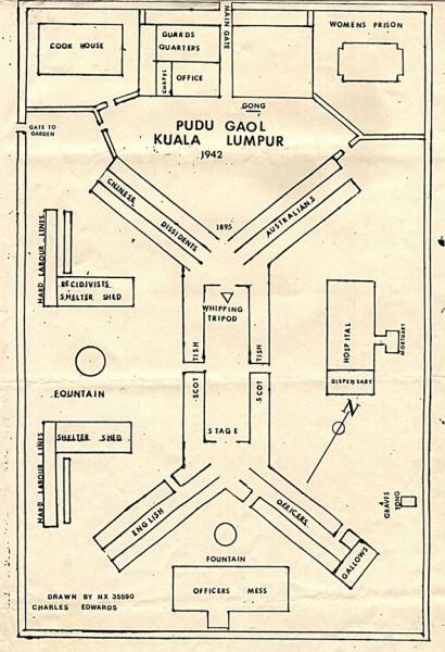 Map of Pudu Gaol, Kuala Lumpur