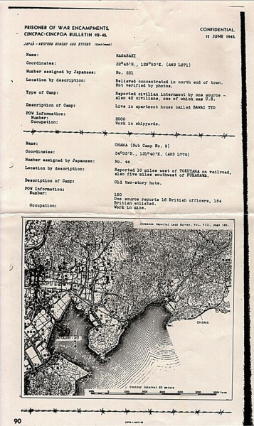 Location map for Ohama Prison Camp, Japan