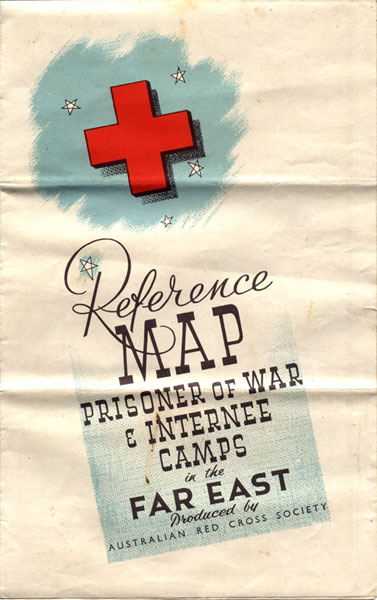 Cover of Red Cross Map showing POW Camps