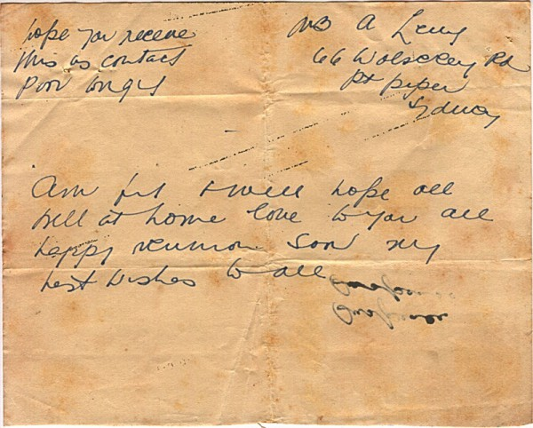 Radio message dated March 8th 1945 #4